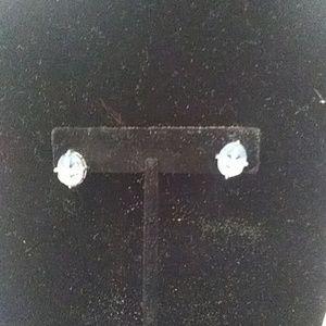 Avon Sterling Silver Blue Stone earrings